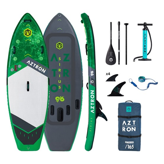 AZTRON Inflatable SUP board SIRIUS 9'6 Double chamber