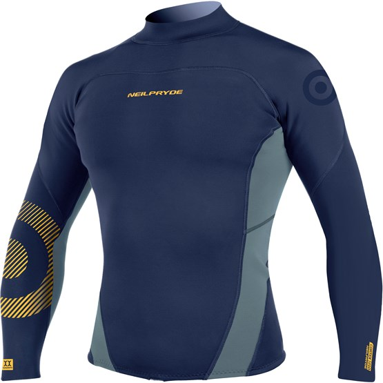 NEILPRYDE Mens Neo Top 2mm pewter/navy/yellow print