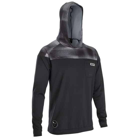 ION Mens wetshirt Hood LS black 2020