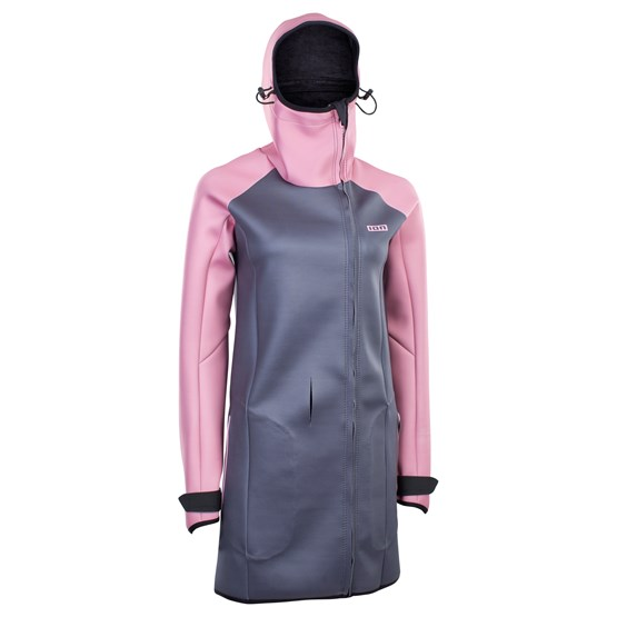 ION 2021 - Płaszcz Neoprenowy Cosy Core Women - dirty rose/steel blue