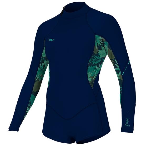 O'NEILL Womens Wetsuit BAHIA 2/1 BACKZIP L/S SHORT SPRING 2019