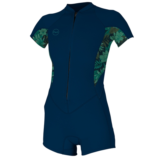 O'NEILL Womens Wetsuit BAHIA 2/1 FRONTZIP S/S SHORT SPRING 2019