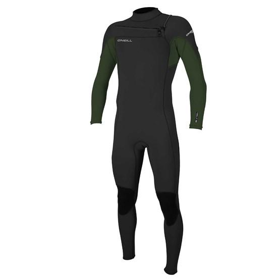 O'NEILL Mens wetsuit Hammer 3/2 Chest Zip Full BLACK/DARKOLIVE