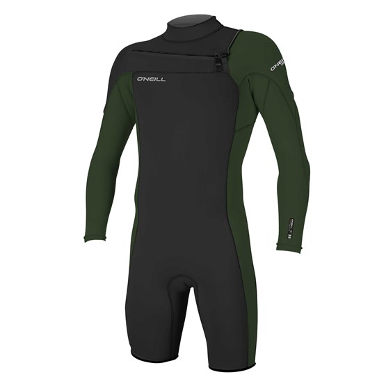 O'NEILL Mens wetsuit Hammer 2mm Chest Zip L/S Spring BLACK/DARKOLIVE