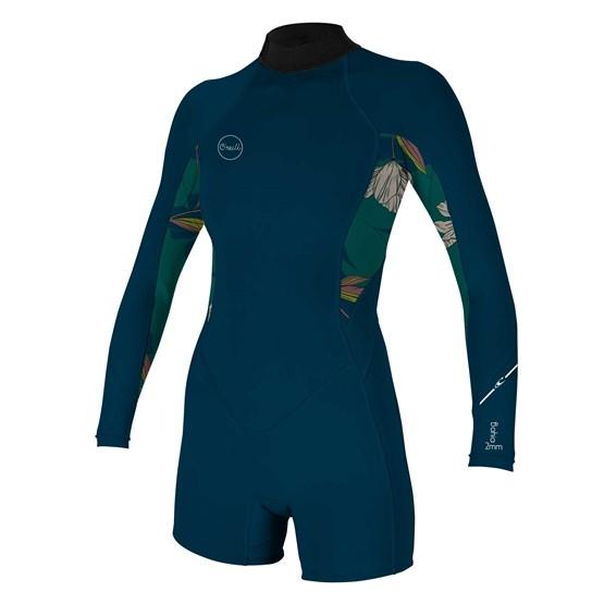 O'NEILL Womens wetsuit Bahia 2/1 Back Zip L/S Spring FRNAVY/BRIDGET/FRNAVY