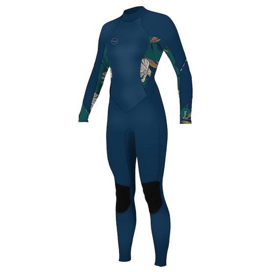 O'NEILL Womens wetsuit Bahia 3/2 Back Zip Full FRNAVY/BRIDGET