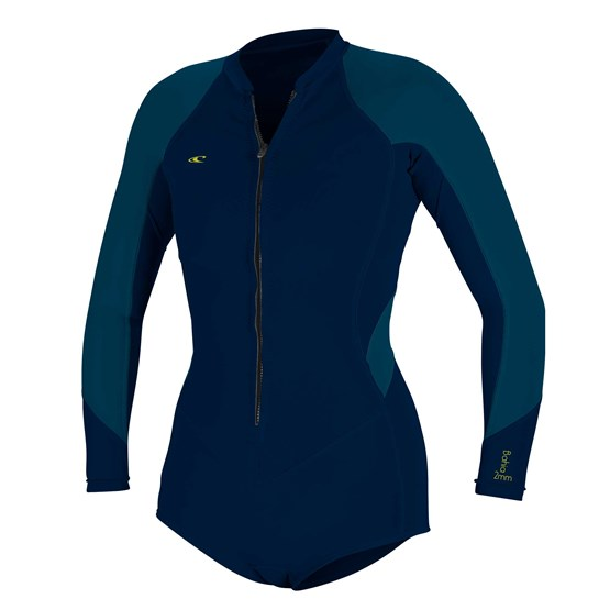 O'NEILL Womens wetsuit Bahia 2/1 Front Zip L/S Short Spring ABYSS/FRENCHNAVY