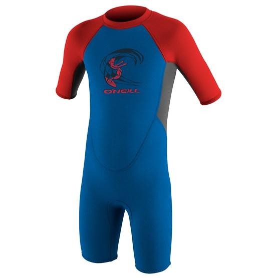 O'NEILL Kids wetsuit Reactor-2 2mm Back Zip S/S Spring - Boys OCEAN/GRAPH/RED