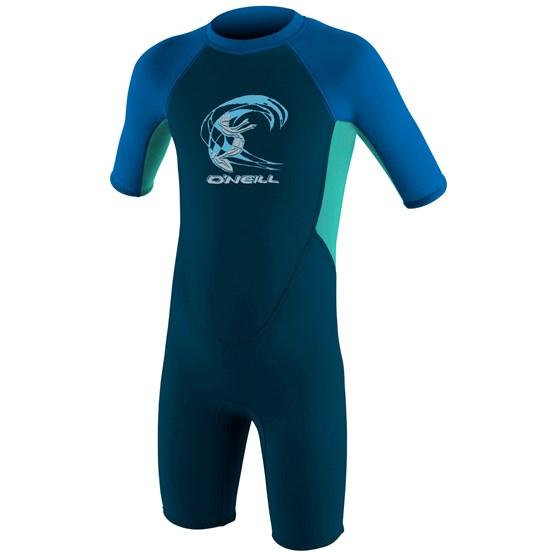 O'NEILL Kids wetsuit Reactor-2 2mm Back Zip S/S Spring - Boys SLATE/LTAQUA/OCEAN