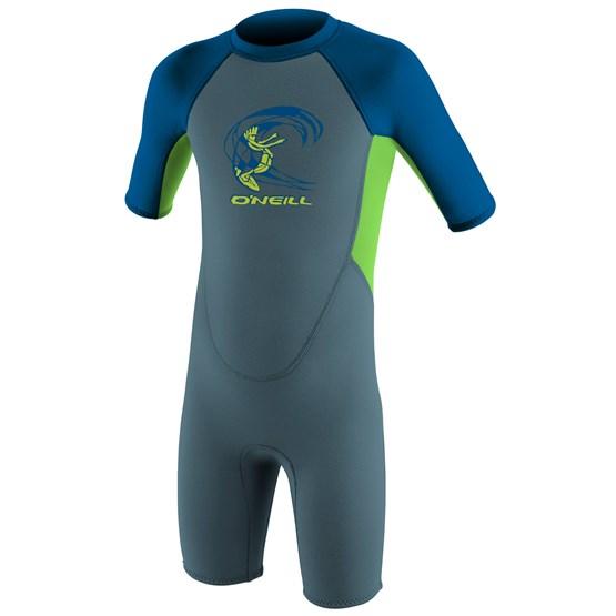 O'NEILL Kids wetsuit Reactor-2 2mm Back Zip S/S Spring - Boys GRAPHITE/DAYGLO/OCEAN
