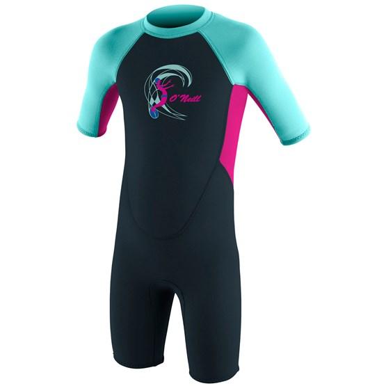 O'NEILL Kids wetsuit Reactor-2 2mm Back Zip S/S Spring - Girls SLATE/BERRY/SEAGLASS