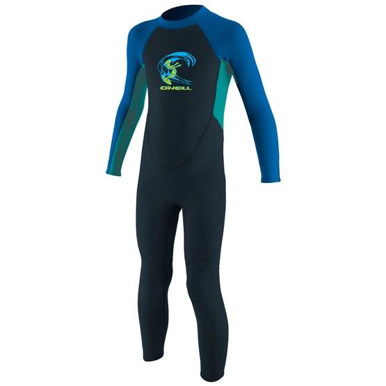 O'NEILL Kids wetsuit Reactor-2 2mm Back Zip Full - Boys SLATE/LTAQUA/OCEAN