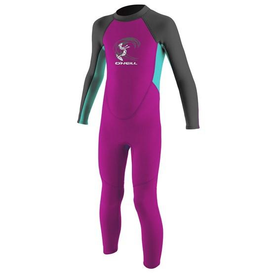 O'NEILL Kids wetsuit Reactor-2 2mm Back Zip Full - Girls BERRY/LTAQUA/GRAPH