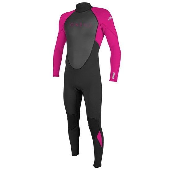 O'NEILL Youth wetsuit Reactor-2 3/2 Back Zip Full BLACK/BERRY