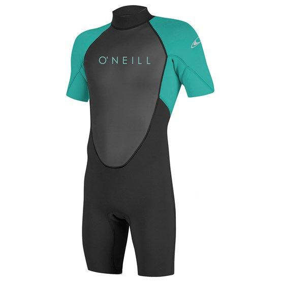 O'NEILL Youth wetsuit Reactor-2 2mm Back Zip S/S Spring BLACK/LTAQUA