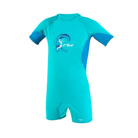 O'NEILL Kids suit O'Zone UV Spring - Girls LIGHTAQUA/SKY/WHITE