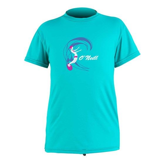 O'NEILL Kids rashguard O'Zone S/S Sun Shirt - Girls LIGHT AQUA