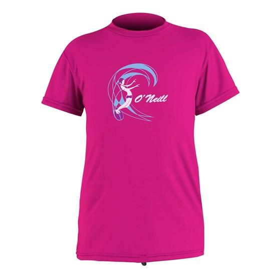 O'NEILL Kids rashguard O'Zone S/S Sun Shirt - Girls BERRY