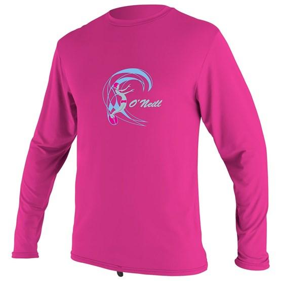 O'NEILL Kids rashguard O'Zone L/S Sun Shirt - Girls BERRY