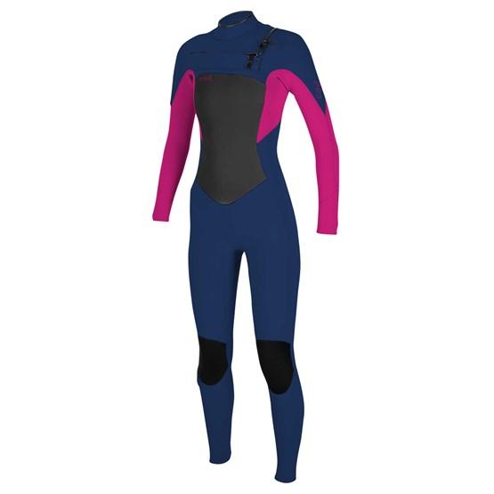 O'NEILL Girls wetsuit Epic 4/3 Chest Zip Full NAVY/BERRY
