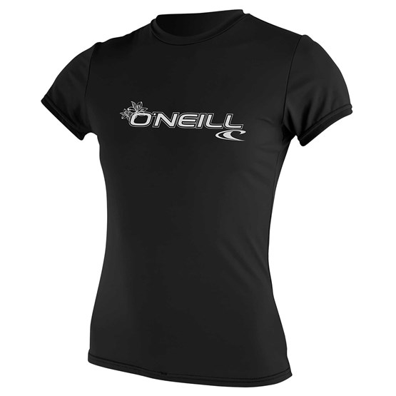 O'NEILL Womens rashguard Basic Skins S/S Sun Shirt BLACK