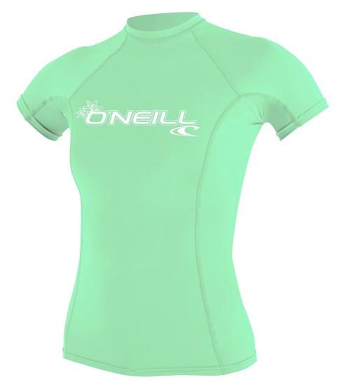 O'NEILL Womens rashguard Basic Skins S/S LIGHT AQUA