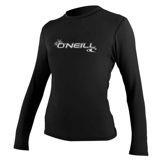 O'NEILL Womens rashguard Basic Skins L/S Sun Shirt BLACK