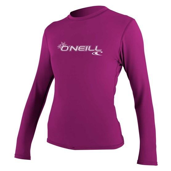O'NEILL Womens rashguard Basic Skins L/S Sun Shirt FOX PINK