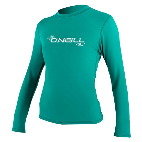 O'NEILL Womens rashguard Basic Skins L/S Sun Shirt LIGHT AQUA