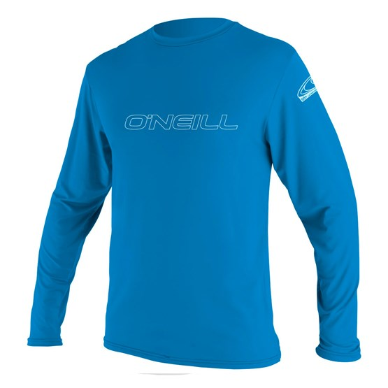 O'NEILL Youth rashguard Basic Skins L/S Sun Shirt BRITE BLUE