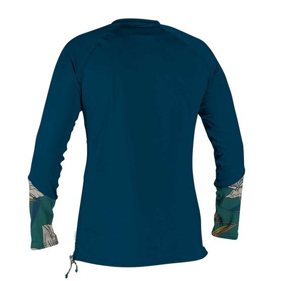 O'NEILL Womens rashguard Front Zip L/S Sun Shirt FRENCHNAVY/BRIDGET