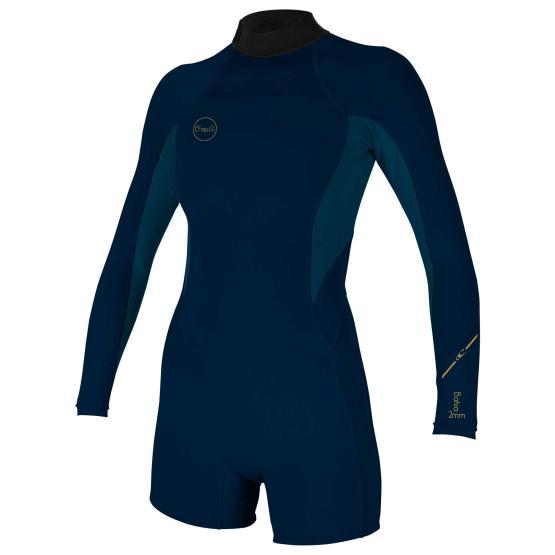 O'NEILL Wms Bahia 2/1 Back Zip L/S Spring ABYSS/FRENCHNAVY/ABYSS