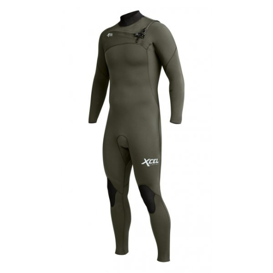 XCEL Mens wetsuit Comp X2 5/4 (chest zip) dark forest FW19/20