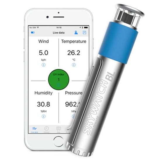 SKYWATCH Wiatromierz BL500 do smartfona - anemometr, termometr, higrometr