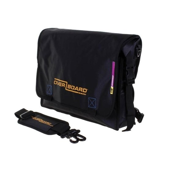 OVERBOARD Wodoszczelna Torba Messenger LIGHT Bag Black