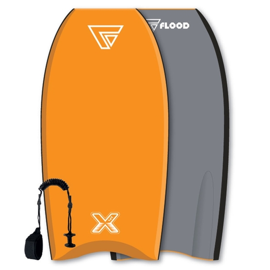 FLOOD Bodyboard Dynamx Stringer 41 Orange-Grey