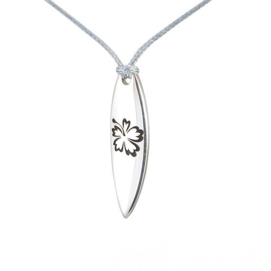 Silver+Surf Jewellery Surfboard M Hawaiian Black