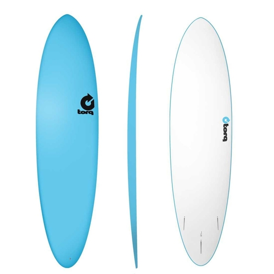 TORQ Surfboard Softboard 7.2 Funboard Blue