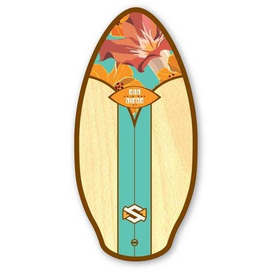 SKIMONE Skimboard 41 105cm San Diego Aqua Orange