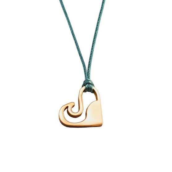 Silver+Surf Jewellery Love Wave S gold