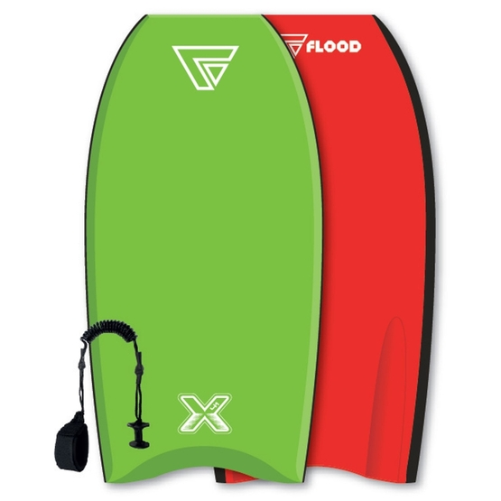 FLOOD Bodyboard Dynamx Stringer 41 Lime-red