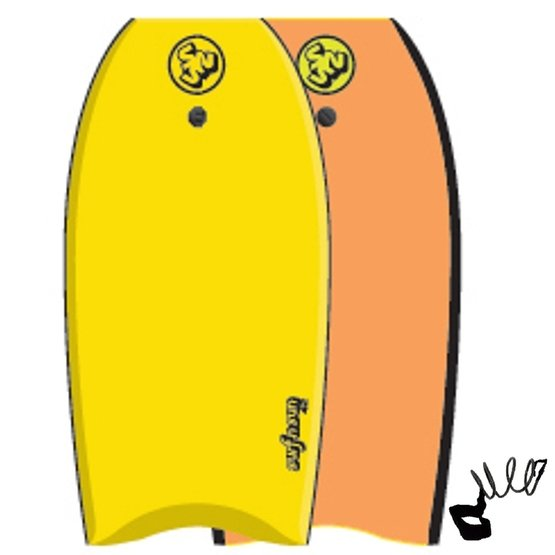 SURFSUN Bodyboard Similar 42 Yellow-Orange