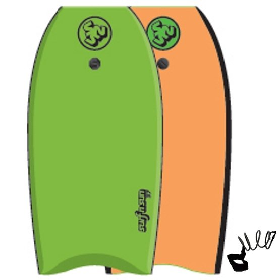 SURFSUN Bodyboard Similar 41 Lime-Orange