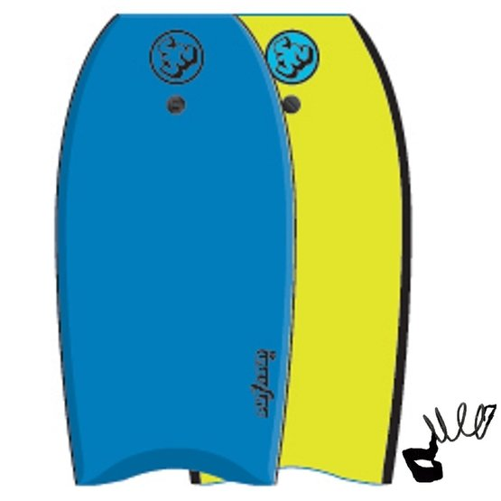 SURFSUN Bodyboard Similar 41 Blue-Yellow