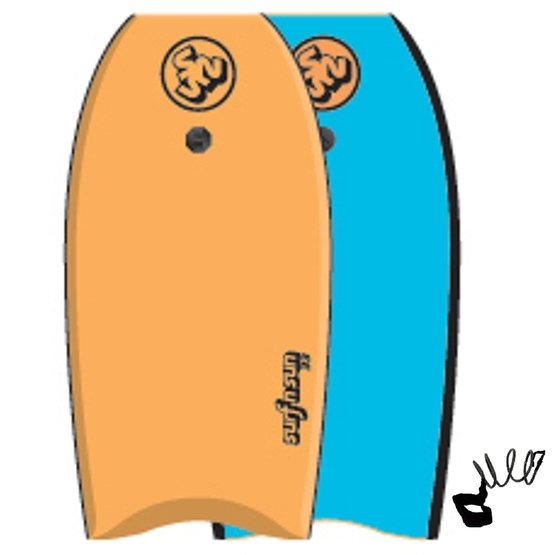 SURFSUN Bodyboard Similar 39 Orange-Blue