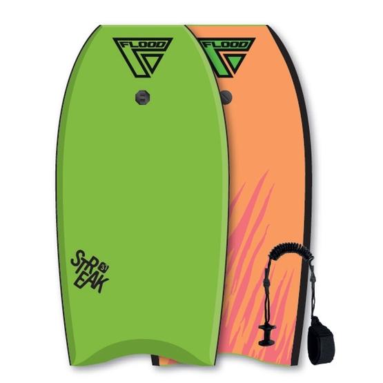 FLOOD Bodyboard Streak 37 Lime-Orange tiger