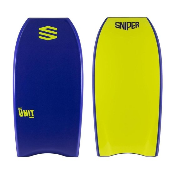 SNIPER Bodyboard Unit PE 38 Blue Yellow