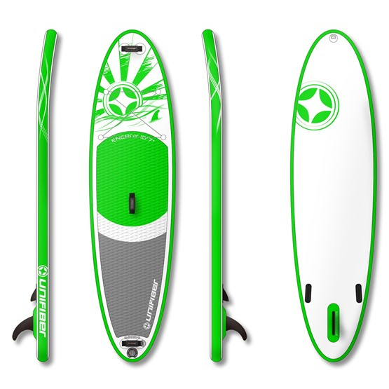 UNIFIBER Inflatable SUP Board Allround Energy 10'7 (MSL® FUSION Technology)
