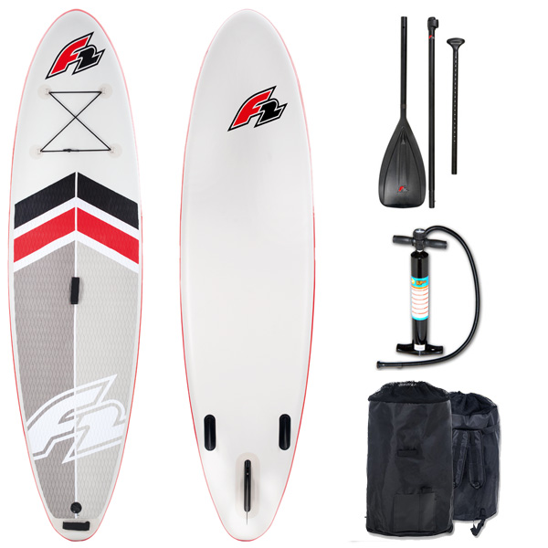 f2 inflatable sup board star paddle and pump easy surf