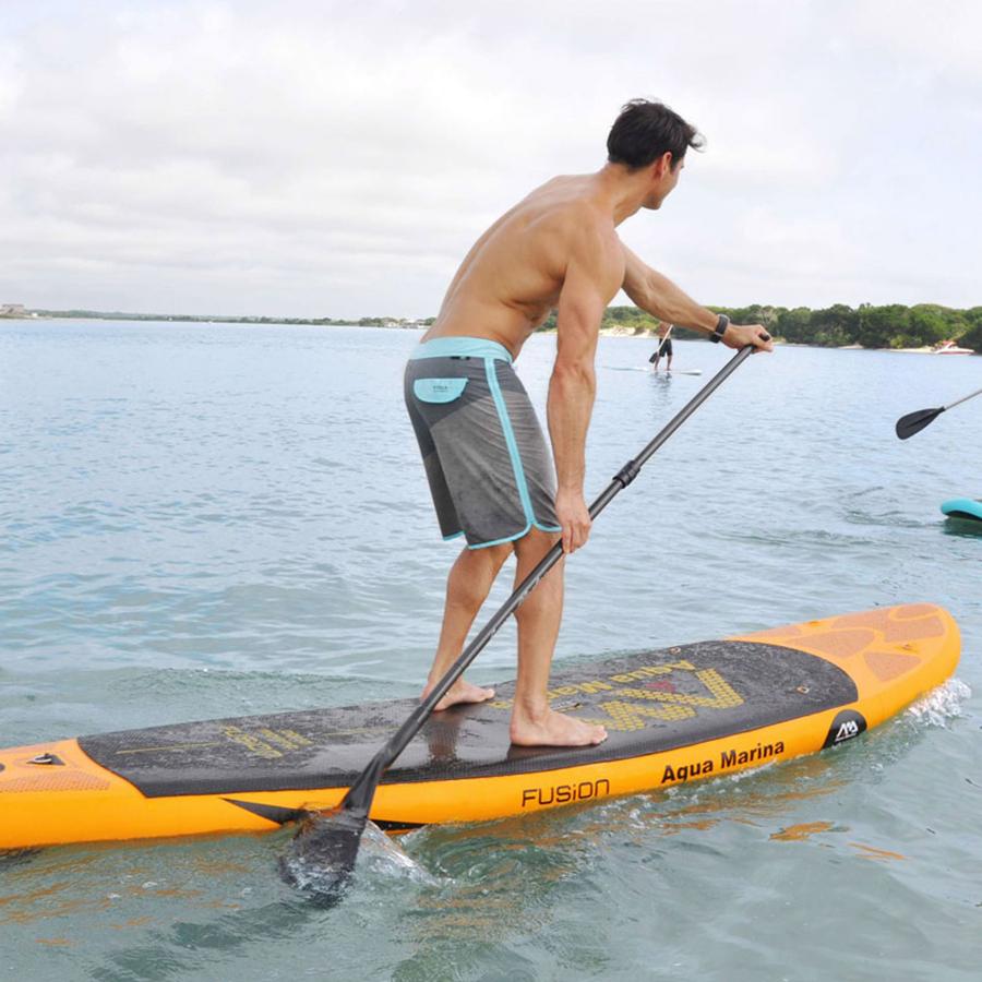 aqua marina inflatable sup board fusion with paddle. Black Bedroom Furniture Sets. Home Design Ideas